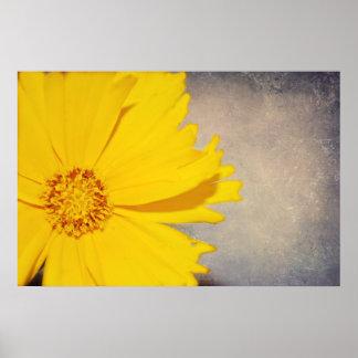 カスタムなポスターファインアートのプリントの黄色の花 プリント
