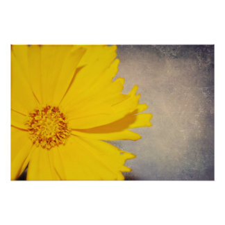 カスタムなポスターファインアートのプリントの黄色の花 ポスター