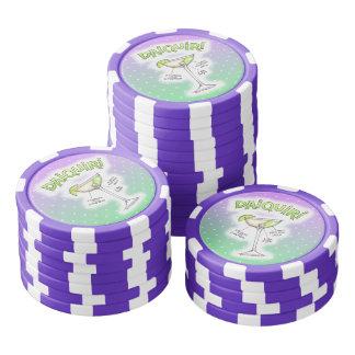 カスタムなポーカー用のチップ-ダイキリのレシピのカクテルの芸術 ポーカーチップ