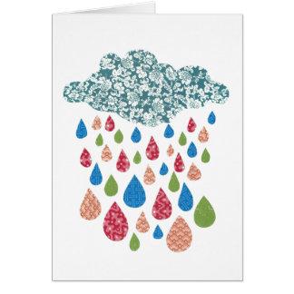 カスタムなメッセージカラフルな雨カード カード
