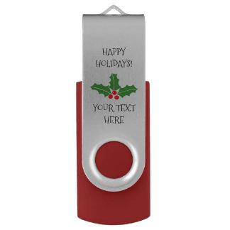 カスタムなメリークリスマスのパーティの記念品USBのフラッシュドライブ USBフラッシュドライブ