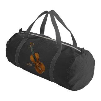 カスタムなモノグラムが付いているStradivariのバイオリン ジムバッグ
