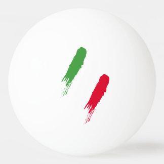 カスタムなモノグラムとの上品なイタリアの旗のデザイン 卓球 玉