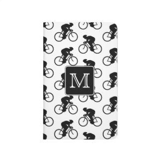 カスタムなモノグラムとの循環のデザイン ポケットジャーナル