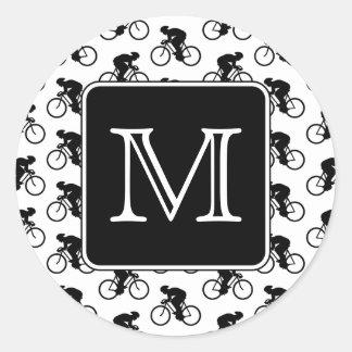 カスタムなモノグラムとの循環のデザイン ラウンドシール