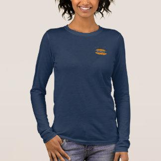 カスタムなモノグラムのカボチャ女性上 長袖Tシャツ