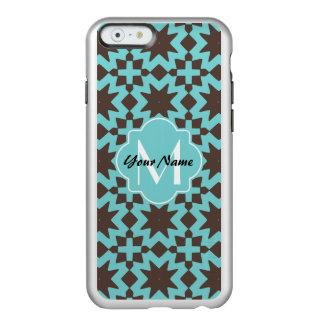 カスタムなモノグラムのスタイリッシュでシックで装飾的なパターン INCIPIO FEATHER SHINE iPhone 6ケース