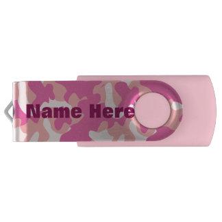カスタムなモノグラムのピンクの迷彩柄USBドライブ USBフラッシュドライブ
