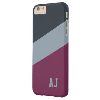 カスタムなモノグラムの三色の電話箱 BARELY THERE iPhone 6 PLUS ケース