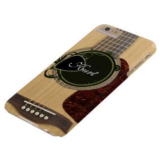 カスタムなモノグラムの名前のクラシックなアコースティックギター BARELY THERE iPhone 6 PLUS ケース
