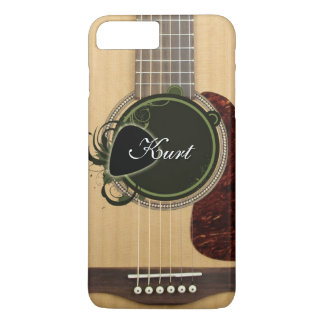 カスタムなモノグラムの名前のクラシックなアコースティックギター iPhone 8 PLUS/7 PLUSケース