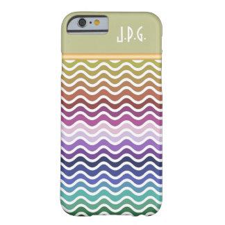 カスタムなモノグラムの多色刷りの波状のストライプなパターン BARELY THERE iPhone 6 ケース
