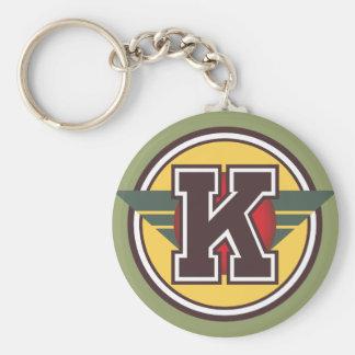 """カスタムなモノグラムの手紙""""K""""のイニシャル キーホルダー"""
