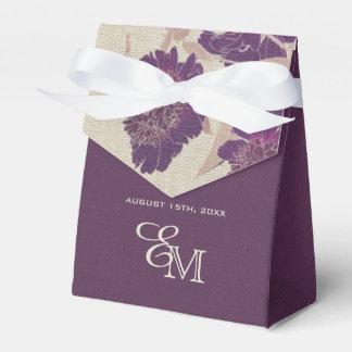 カスタムなモノグラムの花柄の結婚式の引き出物箱 フェイバーボックス