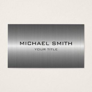 カスタムなモノグラムの銀のステンレス鋼の金属 名刺
