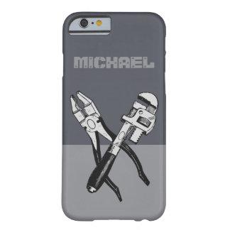 カスタムなモノグラムの電話箱に用具を使います BARELY THERE iPhone 6 ケース