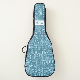カスタムなモノグラム及び色のビーチのタイポグラフィ ギターケース