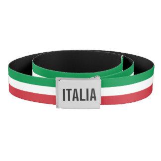 カスタムなモノグラム-イタリアのプライドが付いているイタリアンな旗 ベルト