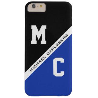 カスタムなモノグラム、名前および色(B&W)のケースと BARELY THERE iPhone 6 PLUS ケース