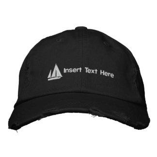 カスタムなヨットによって刺繍される帽子 刺繍入りキャップ