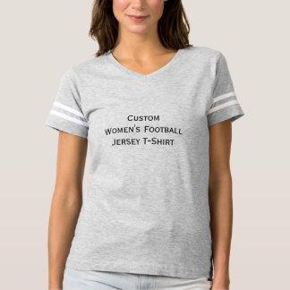 カスタムなレディースフットボールの柔らかいジャージーのTシャツを作成して下さい Tシャツ
