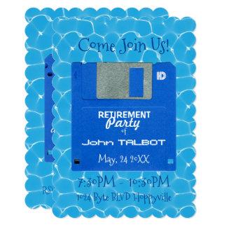 カスタムなレトロのだらしない退職パーティーの招待 カード