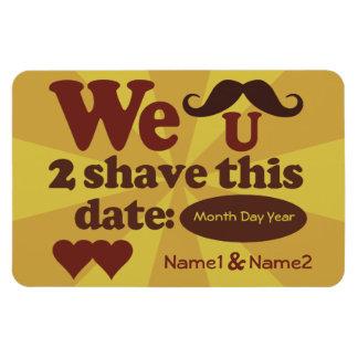 カスタムなレトロの髭の保存日付の磁石 マグネット