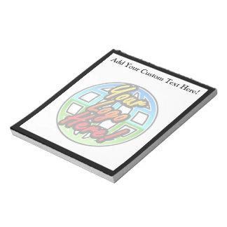 カスタムなロゴのフルカラーの名前入りなメモ帳 ノートパッド