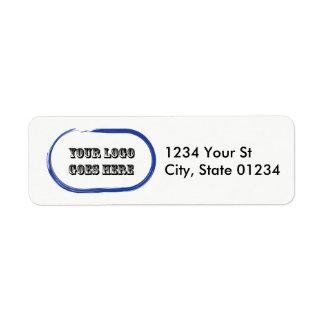 カスタムなロゴの差出人住所ラベル 返信用宛名ラベル