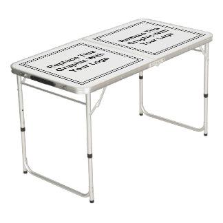 カスタムなロゴビジネス折りたたみ式テーブル ビアポンテーブル