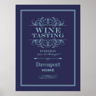 カスタムなワインの試飲の芸術のプリント-家の装飾 ポスター