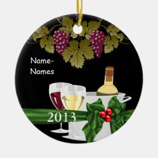 カスタムなワイン愛好家2012休日のオーナメントのギフト セラミックオーナメント