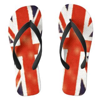 カスタムなヴィンテージのイギリスの英国国旗の優雅なビーチサンダル ビーチサンダル