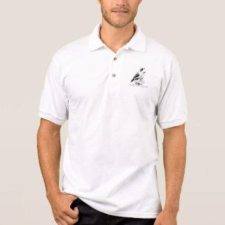 カスタムなヴィンテージのデザインのカンムリウズラの鳥 ポロシャツ