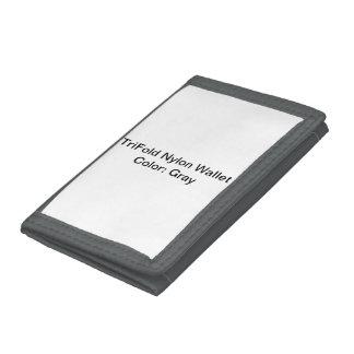 カスタムな三重ナイロン財布(灰色)