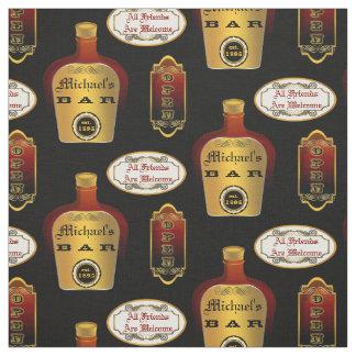 カスタムな人の洞窟のアルコール飲料のボトルのバーの開いたパターン ファブリック