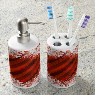 カスタムな休日/クリスマスの石鹸及び歯ブラシ バスセット
