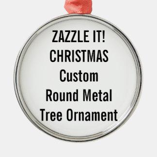 カスタムな優れた円形のクリスマスツリーのオーナメント メタルオーナメント