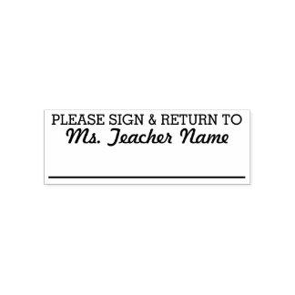 -カスタムな先生の名前ラインに署名し、戻して下さい セルフインキングスタンプ