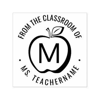 カスタムな先生の教室のモノグラムのモダンApple セルフインキングスタンプ