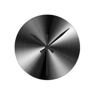 カスタムな円形のステンレス鋼の一見の時計 ラウンド壁時計