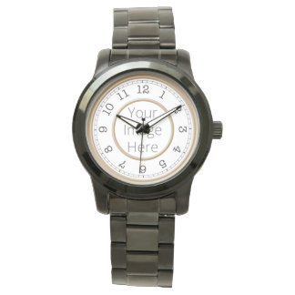 カスタムな写真のブラウンのモダンのミニマリスト 腕時計
