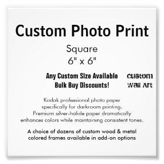 """カスタムな写真のプリント-平方して下さい6つをx 6"""" フォトプリント"""