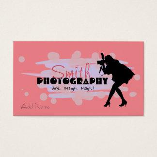 カスタムな写真撮影のデザインの名刺 名刺