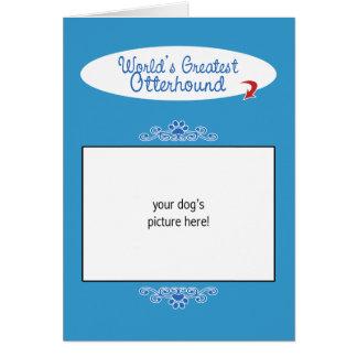 カスタムな写真! 世界の最も素晴らしいカワウソ猟犬 カード