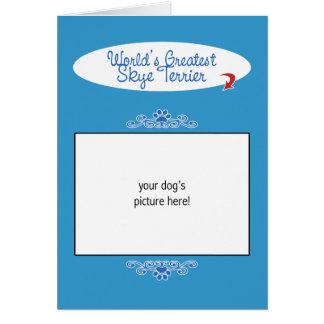 カスタムな写真! 世界の最も素晴らしいSkyeテリア カード