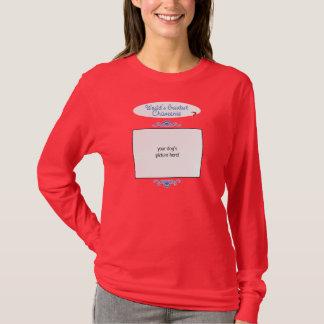 カスタムな写真! 世界最も素晴らしいChiweenie Tシャツ