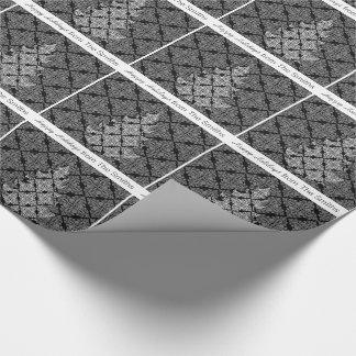 カスタムな包装紙家族のダマスク織のヴィンテージのレース ラッピングペーパー