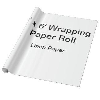 カスタムな包装紙(2x6ロール、リンネル紙)の ラッピングペーパー