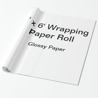 カスタムな包装紙(2x6ロール、光沢紙) ラッピングペーパー